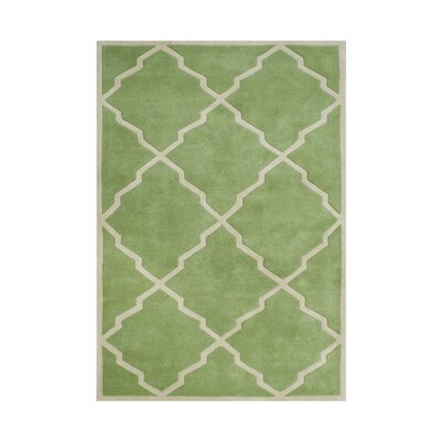 Whiteson Hand-Tufted Green Area Rug Rug Size: Rectangle 5 x 8