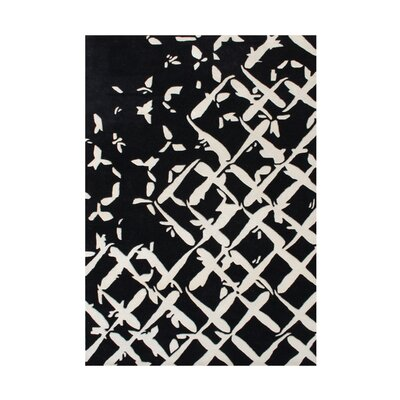 Wilbur Hand-Tufted Black/White Area Rug Rug Size: Rectangle 5 x 8