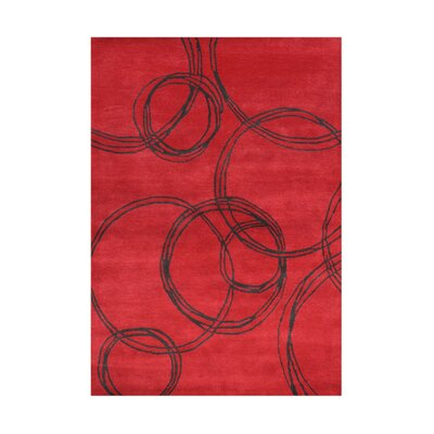 Wilderville Hand-Tufted Red Area Rug Rug Size: 5 x 8