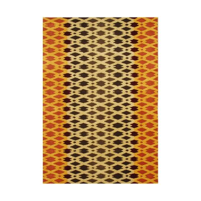 Winchester Hand-Tufted Orange/Black Area Rug Rug Size: 5 x 8