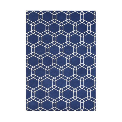 Wingville Hand-Tufted Blue Area Rug Rug Size: Rectangle 8 x 10