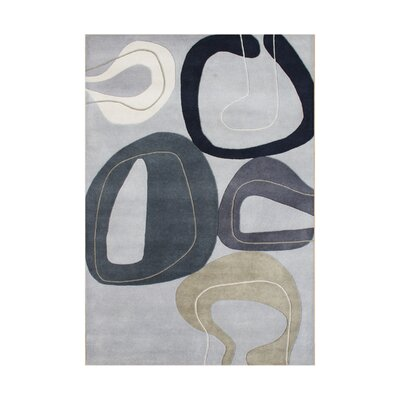 Hazel Hand-Tufted Gray Area Rug Rug Size: Rectangle 8 x 10