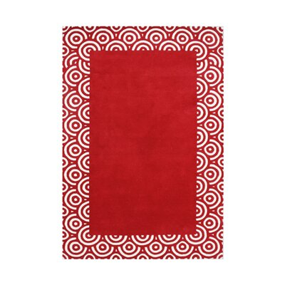 Wonder Hand-Tufted Red Area Rug Rug Size: Rectangle 8 x 10