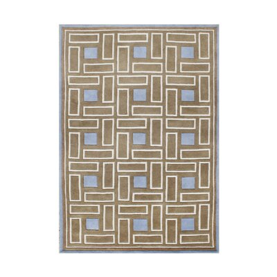 Woodson Hand-Tufted Brown Sugar Area Rug Rug Size: Rectangle 5 x 8