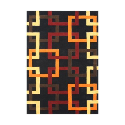 Worden Hand-Tufted Black Area Rug Rug Size: Rectangle 5 x 8