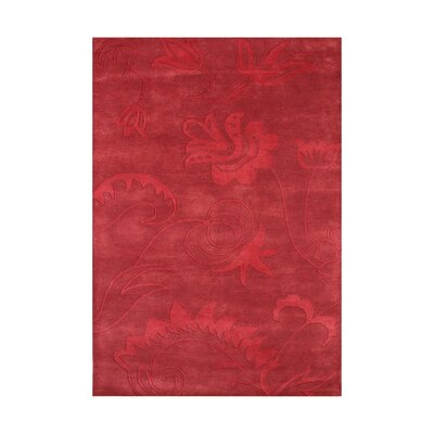 Wren Hand-Tufted Red Area Rug Rug Size: Rectangle 5 x 8
