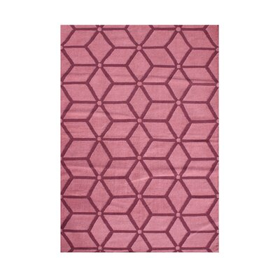 Waldport Hand-Tufted Pink Area Rug Rug Size: Rectangle 8' x 10'