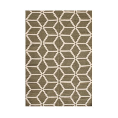 Wallowa Hand-Tufted Sage/Cream Area Rug Rug Size: 8 x 10