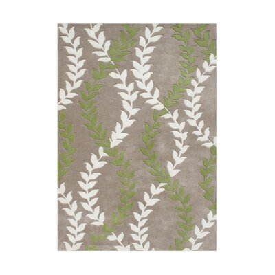 Warrenton Hand-Tufted Taupe Area Rug Rug Size: 5 x 8