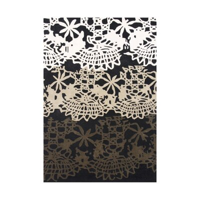 Linn Hand-Tufted Black/White Area Rug Rug Size: Rectangle 5 x 8