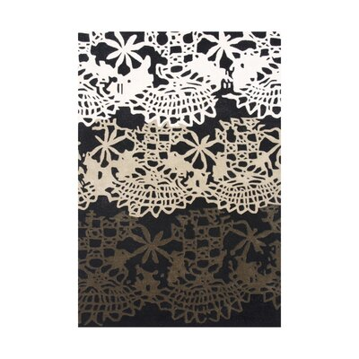 Linn Hand-Tufted Black/White Area Rug Rug Size: Rectangle 8 x 10