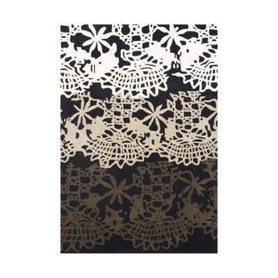 Linn Hand-Tufted Black/White Area Rug Rug Size: 8 x 10
