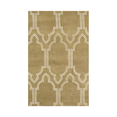 Hand-Tufted Mustard Gold Area Rug Rug Size: 5 x 8
