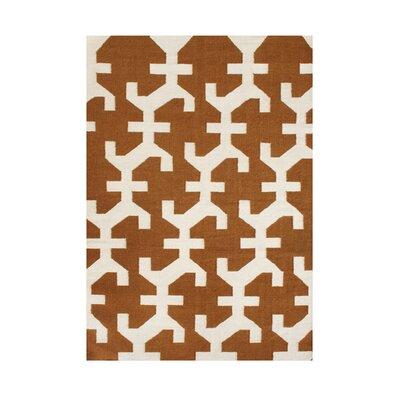 Willamina Hand-Tufted Bronze/Beige Area Rug Rug Size: 5 x 8