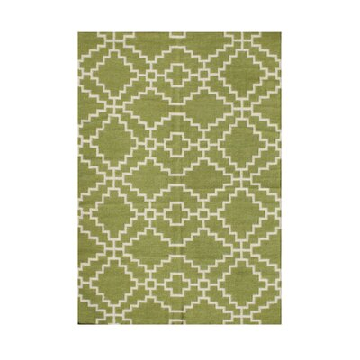 Wilsonville Hand-Tufted Lime Green Area Rug Rug Size: 9 x 12