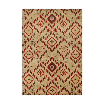 Wood Village Hand-Tufted Latte Area Rug Rug Size: Rectangle 5 x 8