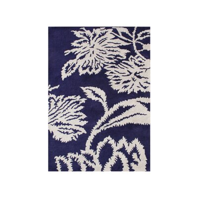 Woodburn Hand-Tufted Blue/White Area Rug Rug Size: Rectangle 9 x 12