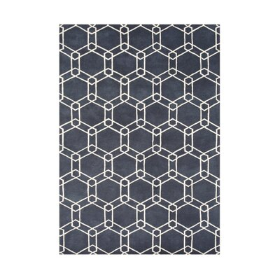 Yaquina Hand-Tufted Charcoal Area Rug Rug Size: Rectangle 5 x 8