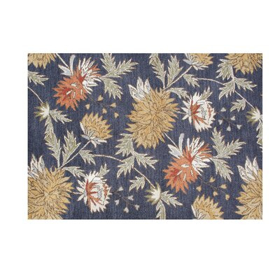 Yamhill Hand-Tufted Orion Blue Area Rug Rug Size: 5 x 8