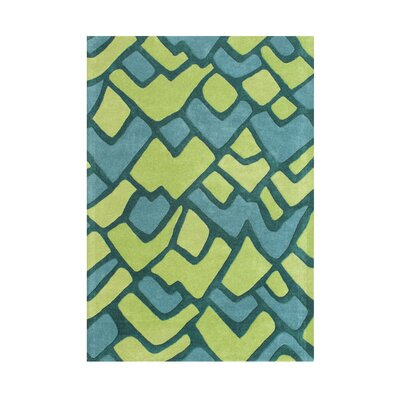 Chubbuck Hand-Tufted Lime/Aqua Area Rug