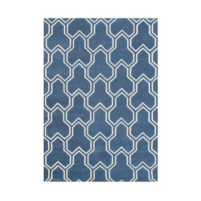 Airport Hand-Tufted Blue Area Rug