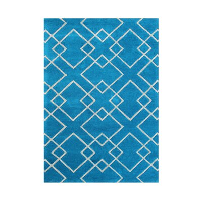 Coolin Hand-Tufted River Blue Area Rug