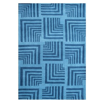 Culdesac Hand-Tufted Azure Blue Area Rug