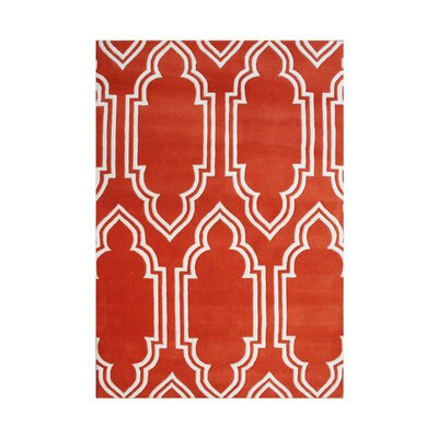 Edgemere Hand-Tufted Red Area Rug