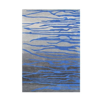 Emmett Hand-Tufted Grey/Blue Area Rug