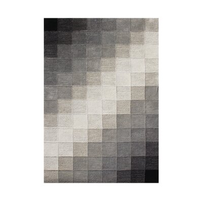 Fairfield Hand-Tufted Black/Grey Area Rug Rug Size: 9 x 12