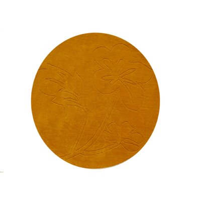 Fruitland Hand-Tufted Pumpkin Area Rug Rug Size: Round 4