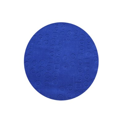 Genesee Hand-Tufted Blue Area Rug Rug Size: Round 6