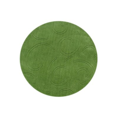 Glenns Hand-Tufted Green Area Rug Rug Size: Round 6