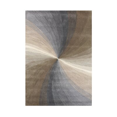 Grace Hand-Tufted Grey Area Rug Rug Size: 5 x 8