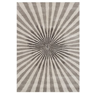 Aiyana Hand-Tufted Bleached Sand Area Rug Rug Size: 5 x 8