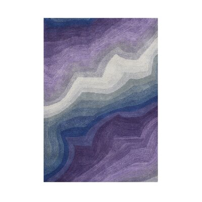 Hansen Hand-Tufted Purple Area Rug Rug Size: 9 x 12