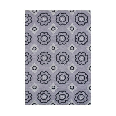 Irwin Hand-Tufted Ash Area Rug Rug Size: 5 x 8