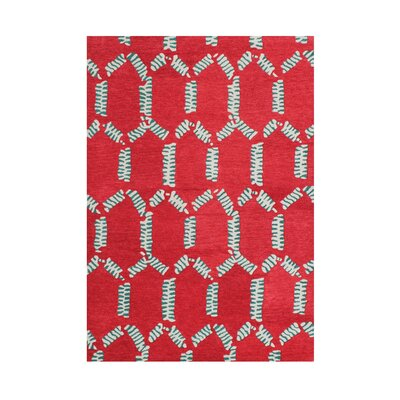 Jerome Hand-Tufted Mandarin Red Area Rug Rug Size: 5 x 8