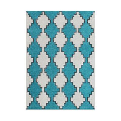 Kamiah Hand-Tufted Blue Area Rug Rug Size: 5 x 8