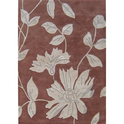 Marsing Hand-Tufted Brown/White Area Rug