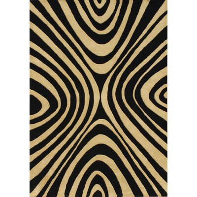 Mccall Hand-Tufted Black/Beige Area Rug