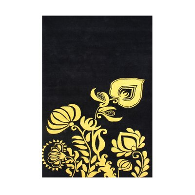 Montpelier Hand-Tufted Black/Gold Area Rug