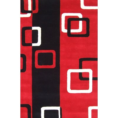 Moreland Hand-Tufted Red/Black Area Rug