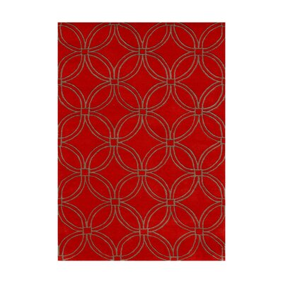 Murray Hand-Tufted Red Area Rug