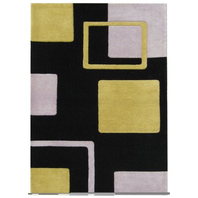 Nezperce Hand-Tufted Black Area Rug