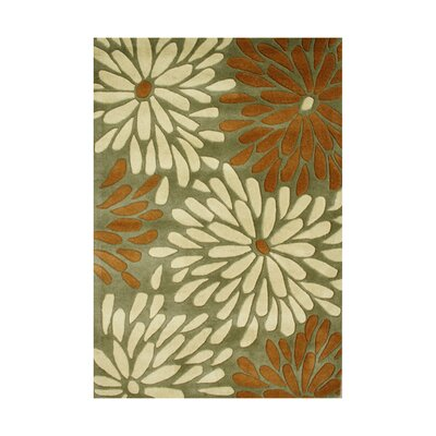 Oldtown Hand-Tufted Olive Green Area Rug