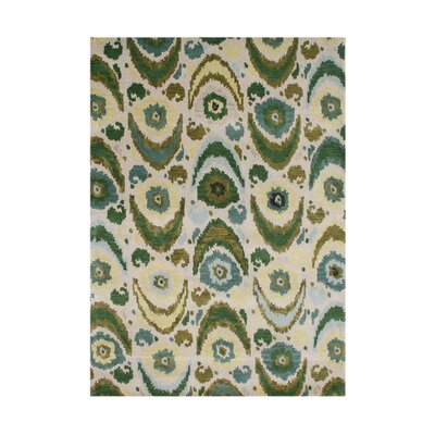 Osburn Hand-Tufted Olive Green/Cream Area Rug