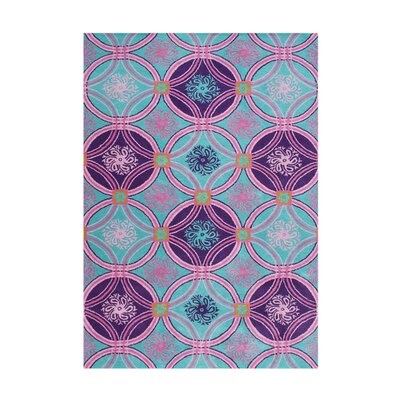 Payette Hand-Tufted Purple/Scuba Blue Area Rug