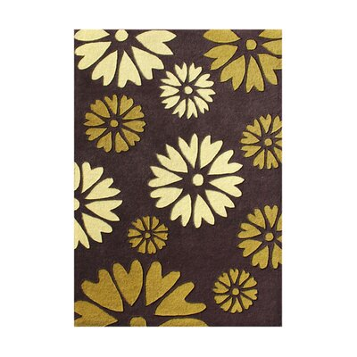 Potlatch Hand-Tufted Hot Chocolate/Gold Area Rug
