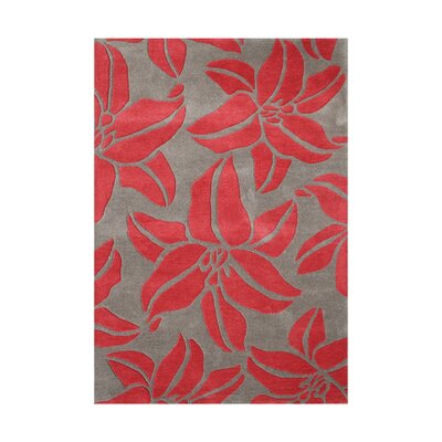 Maries Hand-Tufted Acorn/Red Area Rug